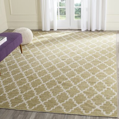 Shevchenko Place Hand-Woven Green / Ivory Area Rug Rug Size: Rectangle 9 x 12