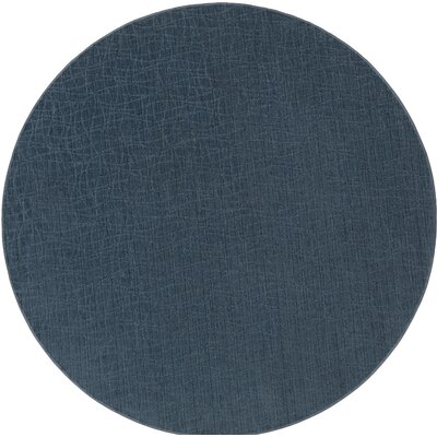 Upper Strode Blue Indoor/Outdoor Area Rug Rug Size: Round 6