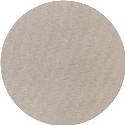 Upper Strode Gray Indoor/Outdoor Area Rug Rug Size: Round 6