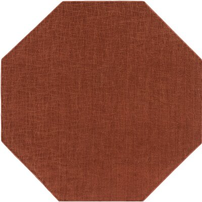 Upper Strode Red Indoor/Outdoor Area Rug Rug Size: Octagon 6
