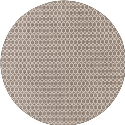 Tunley Brown Indoor/Outdoor Area Rug Rug Size: Round 6