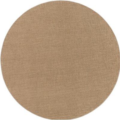 Upper Strode Brown Indoor/Outdoor Area Rug Rug Size: Round 6