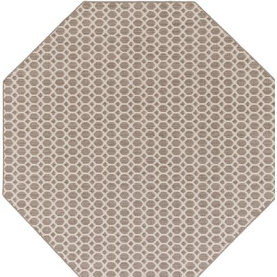 Tunley Brown Indoor/Outdoor Area Rug Rug Size: Octagon 6