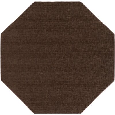 Upper Strode Brown Indoor/Outdoor Area Rug Rug Size: Octagon 6