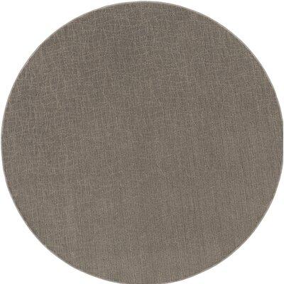 Upper Strode Gray Indoor/Outdoor Area Rug Rug Size: Round 6'
