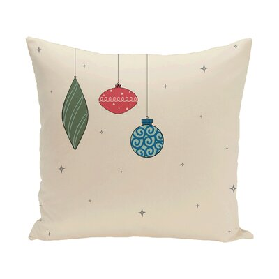 Ryman Light Bright Decorative Holiday Print Throw Pillow Size: 18 H x 18 W, Color: Ivory/Orange