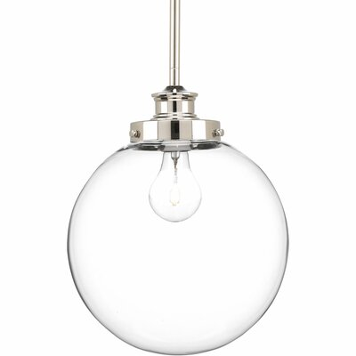 Cayden 1-Light Globe Pendant Finish: Polished Nickel