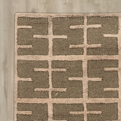 Bushwick Hand-Tufted Green Area Rug Rug Size: Rectangle 5 x 8