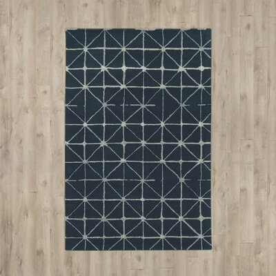 Bushwick Hand-Tufted Blue/Beige Area Rug Rug Size: Rectangle 5 x 8