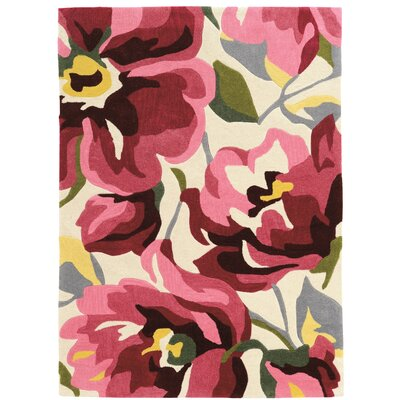 West Wick Hand-Tufted Pink/Beige Area Rug Rug Size: Rectangle 5 x 7