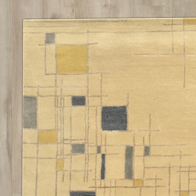 Bushwick Hand-Tufted Beige Area Rug Rug Size: Rectangle 5 x 8