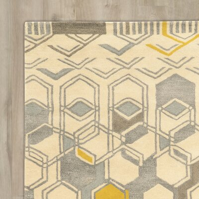 Bushwick Hand-Tufted Beige/Gray Area Rug Rug Size: Rectangle 8 x 11