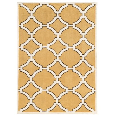 Tyntesfield Hand-Tufted Beige Area Rug Rug Size: 5 x 7