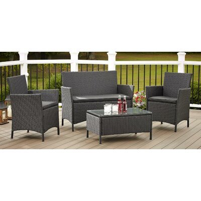 Jamaica 4 Piece Seating Group with Cushions