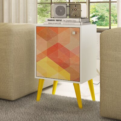 Benajah End Table Finish: White/Yellow