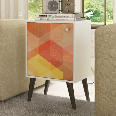 Duffy End Table Color: White/Gray