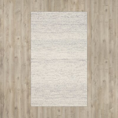 Short Hand-Loomed Silver Area Rug Rug Size: Rectangle 5 x 8