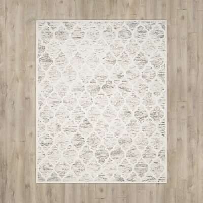 Short Hand-Loomed Light Brown/Ivory Area Rug Rug Size: 5' x 8'