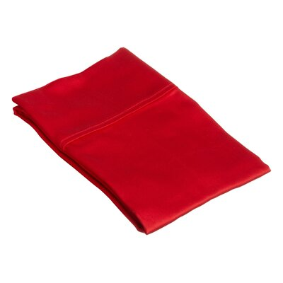 Superior Pillow Case Size: Standard, Color: Red