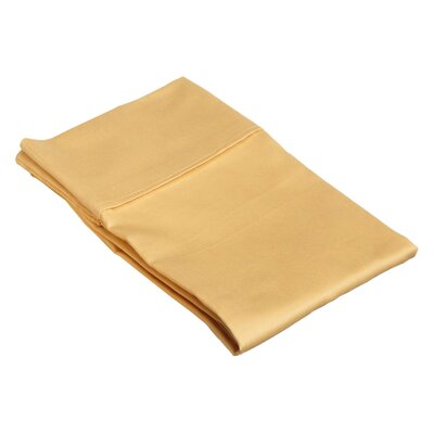 Superior Pillow Case Size: King, Color: Gold