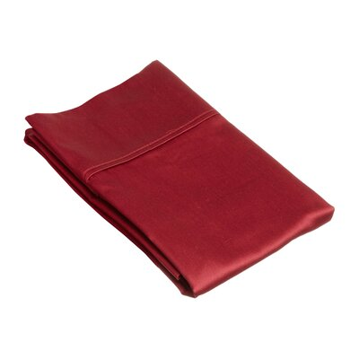 Superior Pillow Case Size: Standard, Color: Burgundy