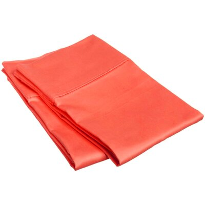 Superior Pillow Case Size: King, Color: Coral