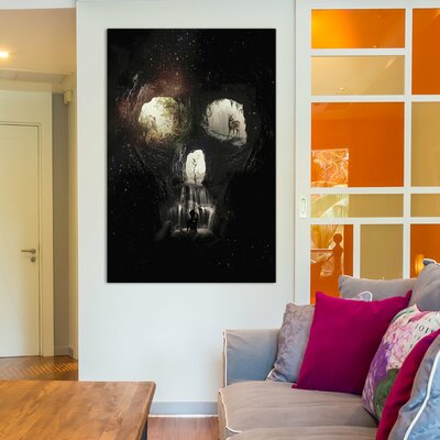 Cave Skull by Ali Gulec Graphic Art on Wrapped Canvas Size: 12