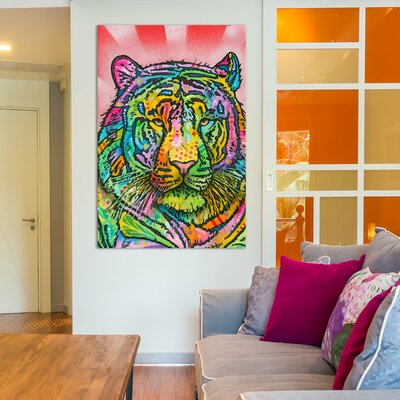 Tiger Graphic Art on Wrapped Canvas Size: 12