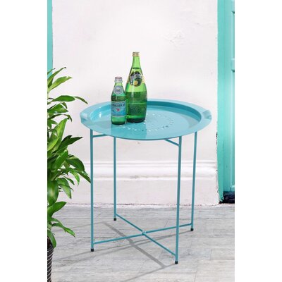 Sanmiguel Bistro Table Finish: Turquoise