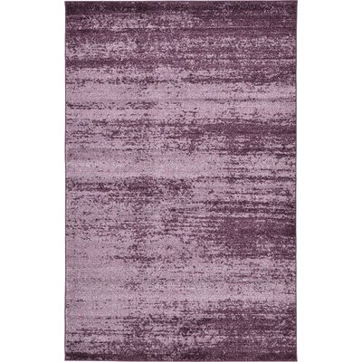 Sanner Purple Area Rug Rug Size: 5 x 8