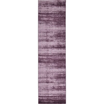 Sanner Purple Area Rug Rug Size: Runner 3 x 10