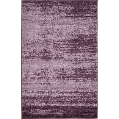 Sanner Purple Area Rug Rug Size: 3 x 5