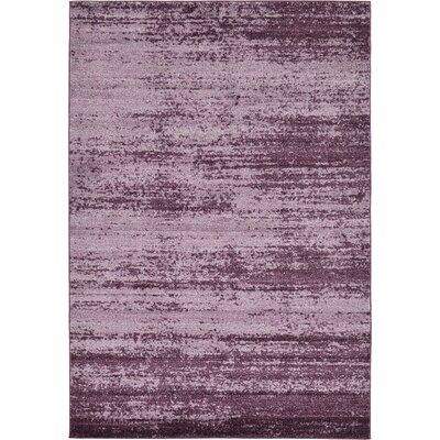 Sanner Purple Area Rug Rug Size: 6 x 9