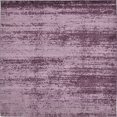 Sanner Purple Area Rug Rug Size: Square 8