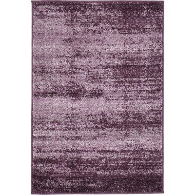 Sanner Purple Area Rug Rug Size: 2 x 3