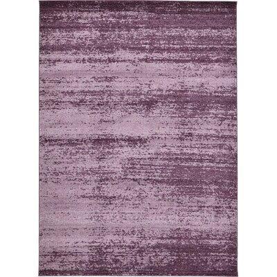 Sanner Purple Area Rug Rug Size: 8 x 11
