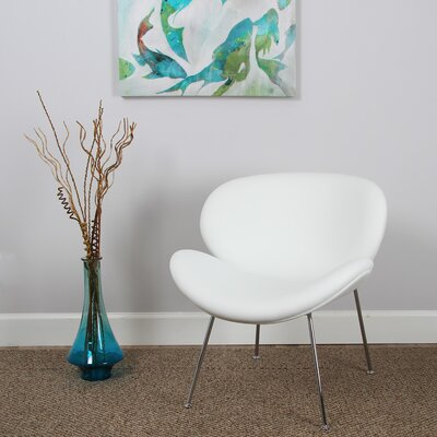 Alesia Side Chair Upholstery: White
