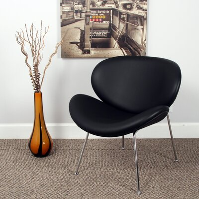 Alesia Side Chair Upholstery: Black