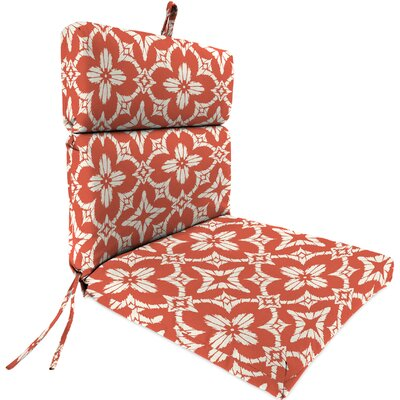 Outdoor Dining Chair Cushion Fabric: Aspidoras Coral