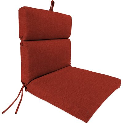 Outdoor Dining Chair Cushion Fabric: Husk Texture Brick