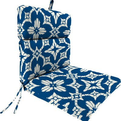 Outdoor Dining Chair Cushion Fabric: Aspidoras Cobalt