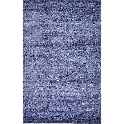 Saladino Blue Area Rug Rug Size: 5' x 8'