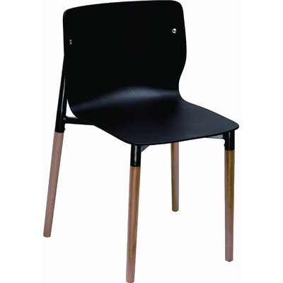 Salas Side Chair (Set of 4) Finish: Black
