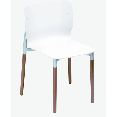 Salas Side Chair (Set of 4) Finish: White
