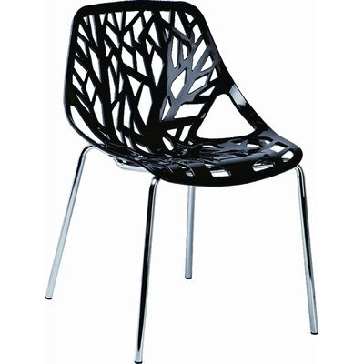 Salazar Side Chair (Set of 2) Finish: Black