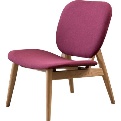 Saito Side Chair Color: Purple Red