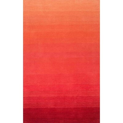 Santamaria Hand-Tufted Red Area Rug Rug Size: Rectangle 76 x 96