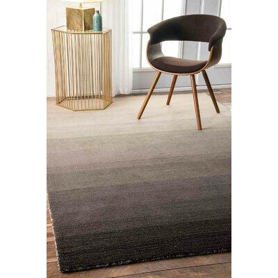 Santamaria Hand-Tufted Charcoal Area Rug Rug Size: Rectangle 76 x 96