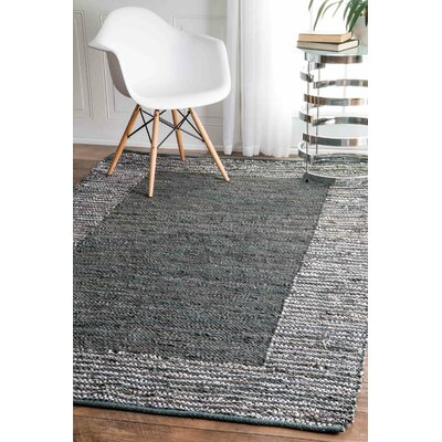 Haworth Hand-Woven Gray Area Rug Rug Size: Rectangle 5 x 8