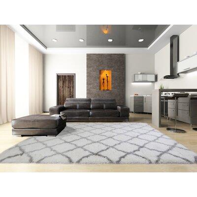 Salcedo Ivory/Gray Area Rug Rug Size: 26 x 43
